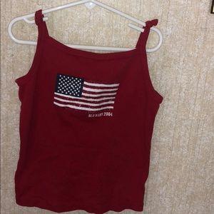 Vintage Old Navy Flag shirt